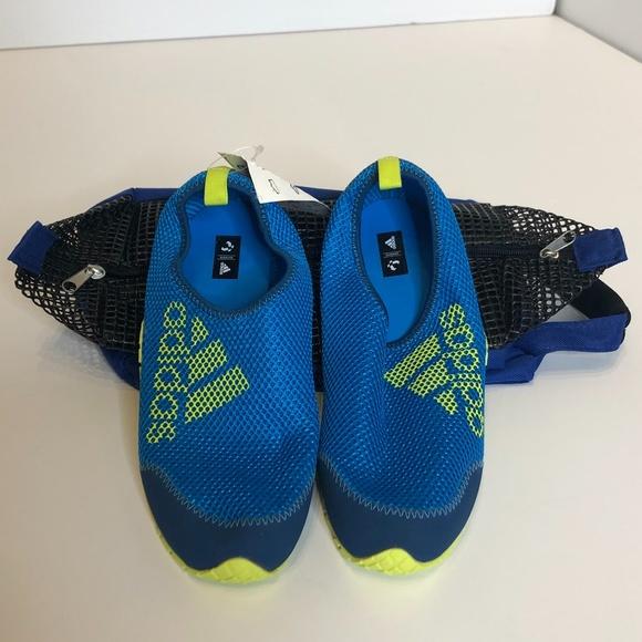 Adidas Kids Kurobe K Blue Plein Air Swim Shoes S6